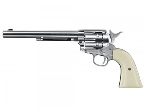 Colt SAA .45, 4.5mm, Nickel, 7.5""