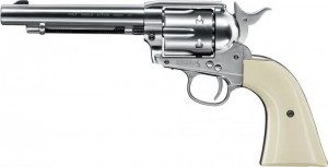 Zračni revolver Colt SAA .45, 4.5mm BB, Nickel