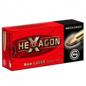 Geco Hexagon 9mm Luger, 124grs