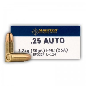 Magtech 6.35mm Browning FMJ, 50grs
