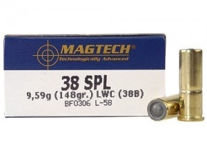 Magtech .38 special LWC, 148grs