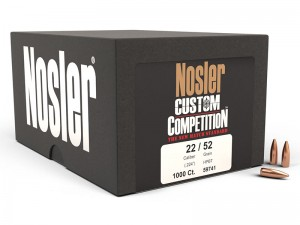 Nosler .224 HPBT Custom Competition, 1000kos
