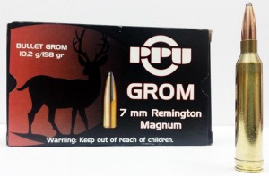 PPU 7mm Rem Mag GROM, 158grs