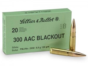 S&B .300 AAC Blackout FMJ, 124grs