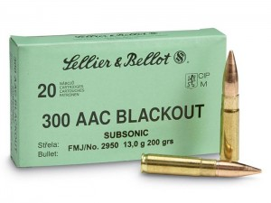 S&B .300 AAC Blackout Subsonic FMJ, 200grs