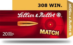 Sellier & Bellot .308 win HPBT Match, 168grs