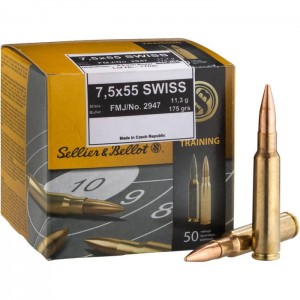 Sellier & Bellot 7.5x55 Swiss FMJ, 174grs