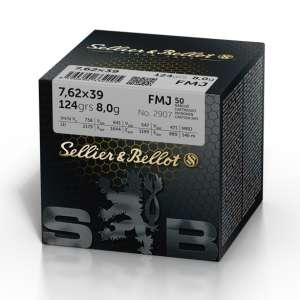 Sellier & Bellot 7.62x39 FMJ, 124grs