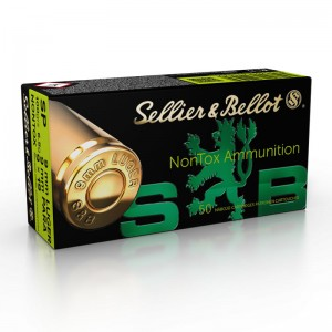 Sellier & Bellot 9mm Luger SP NONTOX, 100grs