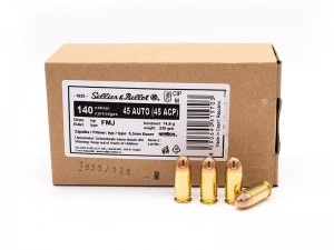 Sellier & Bellot .45 ACP FMJ, 230 grs
